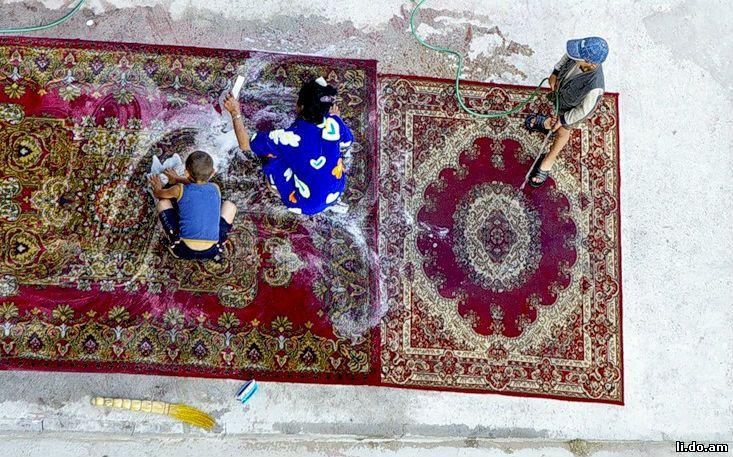 Чем постирать шерстяной ковер в домашних условиях 858
